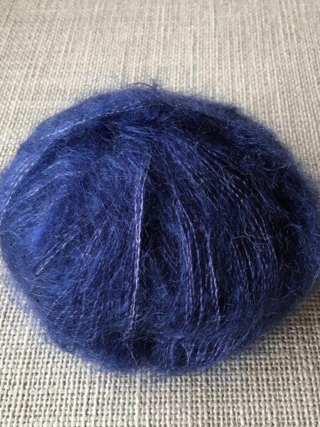#07 silk-mohair - mørk blå