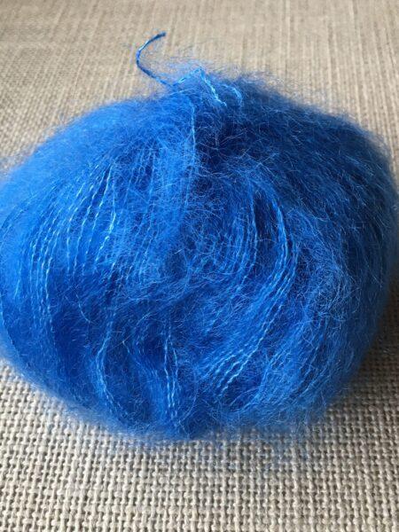 #122 silk-mohair - kobolt blå