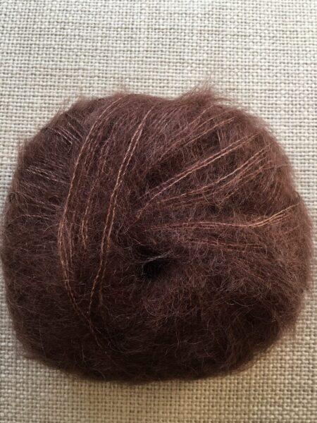 #116 silk-mohair - mørk brun
